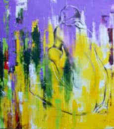 Abstract Mixed-media Art Painting title Urban Jungle 14 by artist Tejinder Ladi Singh