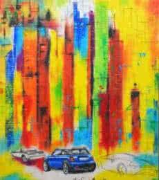 Urban Jungle 6 | Painting by artist Tejinder Ladi  Singh | mixed-media | Paper