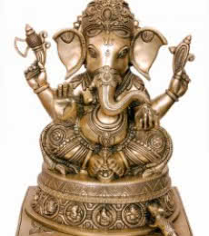 Brass Ganesha I | Craft by artist Brass Art | Brass