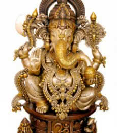 Brass Art | Brass Jewelled Ganesha Craft Craft by artist Brass Art | Indian Handicraft | ArtZolo.com