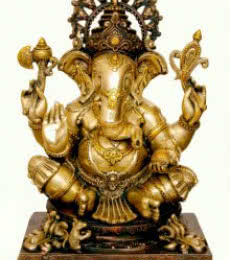 Brass Art | Brass Ganesha III Craft Craft by artist Brass Art | Indian Handicraft | ArtZolo.com