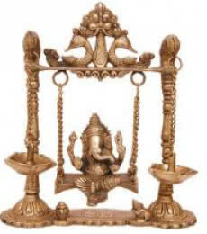 Brass Art | Brass Ganesh Jhula I Craft Craft by artist Brass Art | Indian Handicraft | ArtZolo.com