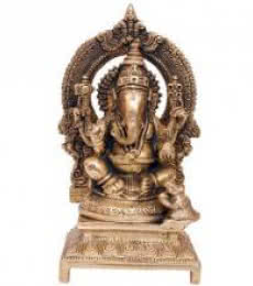 Brass Ganesha | Craft by artist Brass Art | Brass