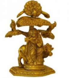 Brass Radha Krishna   Craft by artist Brass Art   Brass