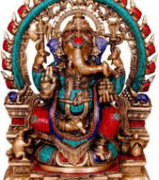 Ganesha Idol | Craft by artist Brass Art | Brass