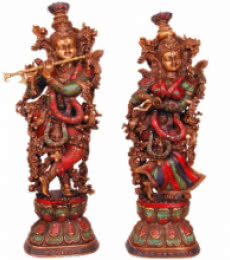 Radha Krishna I | Craft by artist Brass Art | Brass