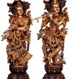 Radha Krishna II | Craft by artist Brass Art | Brass
