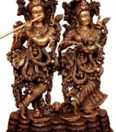 Brass Art | Radha Krishna III Craft Craft by artist Brass Art | Indian Handicraft | ArtZolo.com