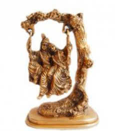 Brass Art | Radha Krishna Jhoola II Craft Craft by artist Brass Art | Indian Handicraft | ArtZolo.com