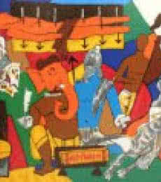 Figurative Serigraphs Art Painting title Mahabharata Series by artist M F husain