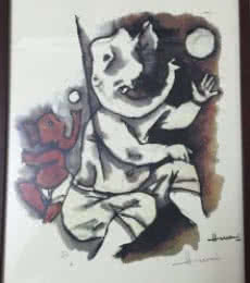 Ganesha IV (Ashtavinayak Series) | Painting by artist M F husain | other | serigraph