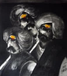 Three Shepherd | Painting by artist RAOSAHEB GURAV | oil | Canvas
