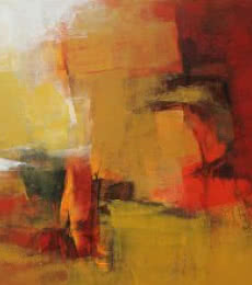 Golden Blush II | Painting by artist Siddhesh Rane | acrylic | Canvas