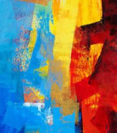 Abstract Acrylic Art Painting title 'Multi Blue Vertical Abstract' by artist Siddhesh Rane