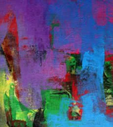 Abstract Acrylic Art Painting title 'The Purple Touch' by artist Siddhesh Rane