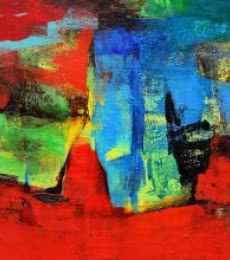 Abstract Acrylic Art Painting title 'Untitled' by artist Siddhesh Rane