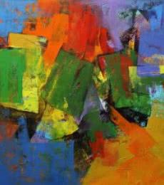 Vibrant Hues | Painting by artist Siddhesh Rane | acrylic | Canvas