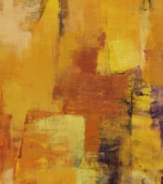 Abstract Acrylic Art Painting title 'Yellow Vertical Abstract I' by artist Siddhesh Rane
