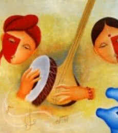 - musical - love - 3 | Painting by artist Chetan Katigar | oil | Canvas