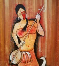 Rhythm 2 | Painting by artist Chetan Katigar | oil | Canvas Board