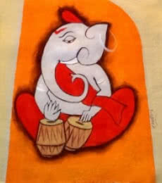 Ganesha 5 | Painting by artist Chetan Katigar | oil | Canvas