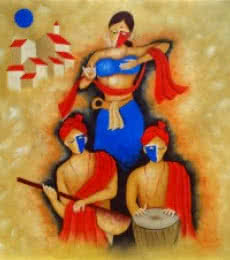 Indian Culture | Painting by artist Chetan Katigar | oil | Canvas