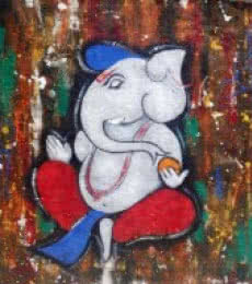 Kapila 3 | Painting by artist Chetan Katigar | acrylic | Canvas