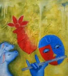 Krishna Love 3 | Painting by artist Chetan Katigar | oil | Canvas