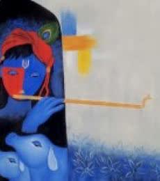 Krishna | Painting by artist Chetan Katigar | oil | Canvas