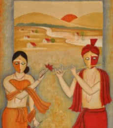 Love 2 | Painting by artist Chetan Katigar | oil | love-2