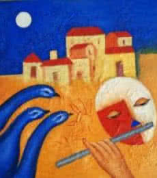 Rhythm Of Music -1 | Painting by artist Chetan Katigar | oil | Canvas