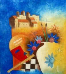 Sadhu | Painting by artist Chetan Katigar | oil | Canvas