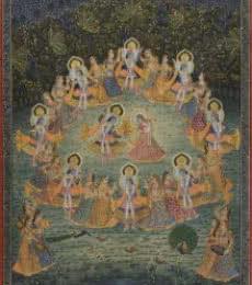 Raas Leela - Pichwai Art   Painting by artist Artisan   other   Cloth