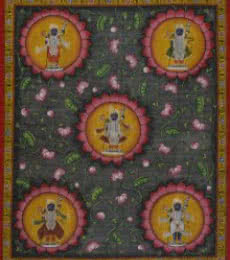 Lord Srinathji - Pichwai Art | Painting by artist Artisan | other | Cloth