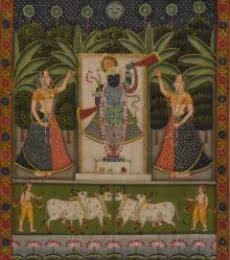 Sreenathji Pichwai Art 1 | Painting by artist Artisan | other | Cloth