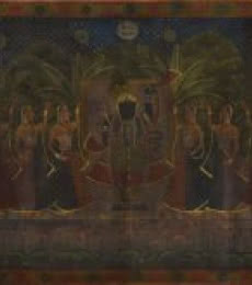 Pichwai Art with Gold Work | Painting by artist Artisan | other | Cloth