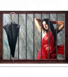 Figurative Oil Art Painting title 'UNTITLED' by artist SHAHEEN VERMA