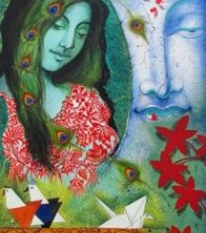 Figurative Acrylic Art Painting title 'UNTITLE' by artist Shishir Bhatt