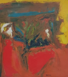 Abstract Oil Art Painting title 'Untitled 1' by artist SH Raza