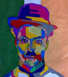 Charlie Chaplin | Painting by artist Jay Ramani | acrylic | Paper