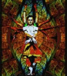Dancer In A Catredal Window. C Jpg   Digital_art by artist CLAUDIO FIORI   Art print on Canvas