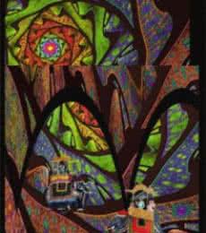 Fractal Landscape with Rajas   Digital_art by artist CLAUDIO FIORI   Art print on Canvas