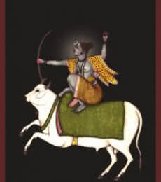 Shiva as an Archer | Digital_art by artist CLAUDIO FIORI | Art print on Canvas