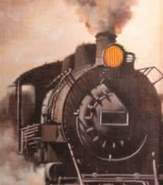 Locomotive11 | Painting by artist Kishore Pratim  Biswas | acrylic | Canvas