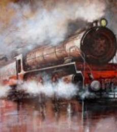 Locomotive16 | Painting by artist Kishore Pratim  Biswas | acrylic | Canvas