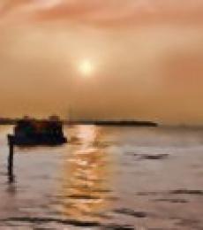 Abstract Sunset | Digital_art by artist ANIL KUMAR K | Art print on Canvas