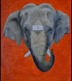 Gajmukh | Painting by artist Shivam Bharti | oil | Canvas Board