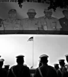 Indonesian independence day ceremonial   Photography by artist Rahmat Nugroho   Art print on Canvas