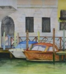 Venetian Hues-I | Painting by artist Niharika Gupta | watercolor | Paper