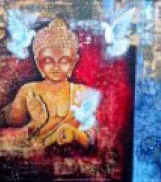 Buddha | Painting by artist Arjun Das | acrylic | Canvas Board